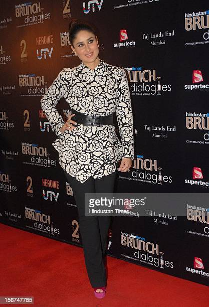 MUMBAI INDIA SEPTEMBER 14 Actress Kareena Kapoor walk the red carpet during the Bruch Dialogues at Taj landsend Bundra on September 14 2012 in Mumbai...