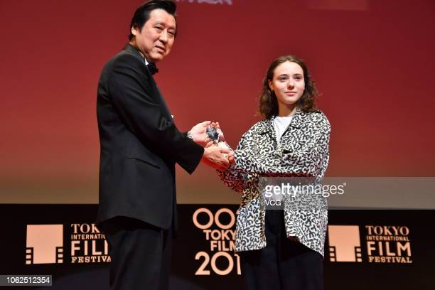 Actress Karelle Tremblay attends the closing ceremony of the 31st Tokyo International Film Festival on November 2 2018 in Tokyo Japan