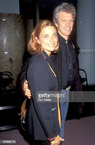 Actress Karen Allen and Actor Kale Browne attend the American Heart West Hollywood Premiere on May 11 1993 at Pacific Design Center Center Green...
