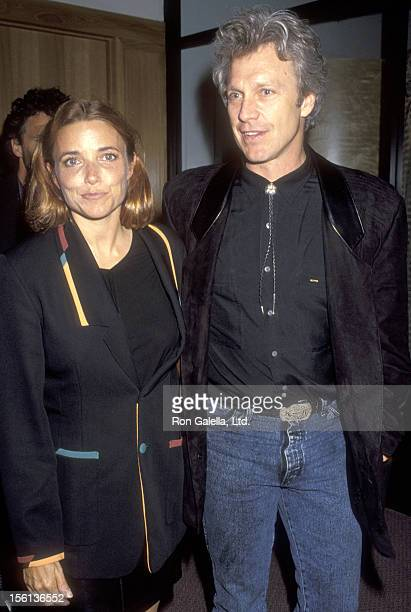 Actress Karen Allen and Actor Kale Browne attend the 'American Heart' West Hollywood Premiere on May 11 1993 at Pacific Design Center Center Green...