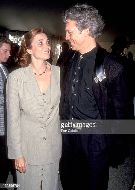 Actress Karen Allen and Actor Kale Browne attend the Eighth Annual IFP/West Independent Spirit Awards on March 27 1993 at Santa Monica Beach in Santa...