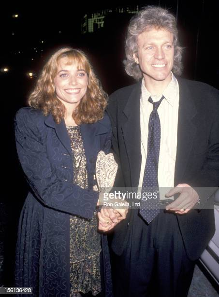 Actress Karen Allen and Actor Kale Browne attend the Michael Dukakis Presidential Campaign Benefit on October 21 1988 at Roseland in New York City...