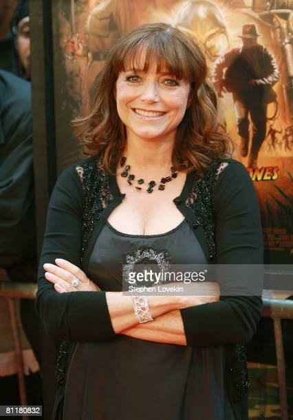 Actress Karen Allen attends the New York premiere of 'Indiana Jones and the Kingdom of the Crystal Skull' at the AMC Magic Johnson Theatre in Harlem...
