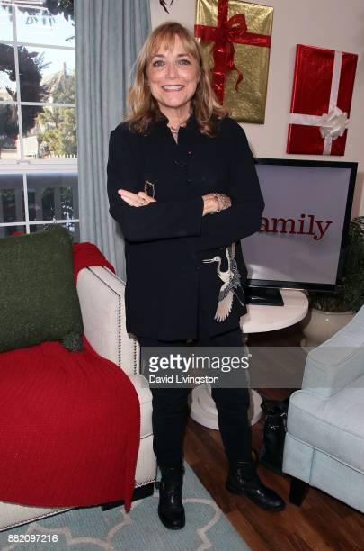 Actress Karen Allen visits Hallmark's Home Family at Universal Studios Hollywood on November 29 2017 in Universal City California