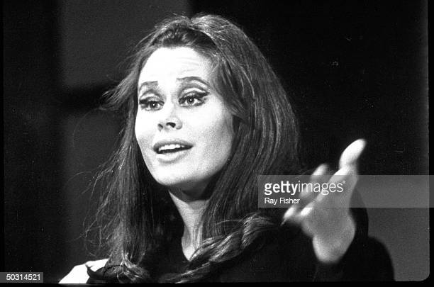 Actress Karen Black in a scene from the stage musical On a Clear Day You Can See Forever