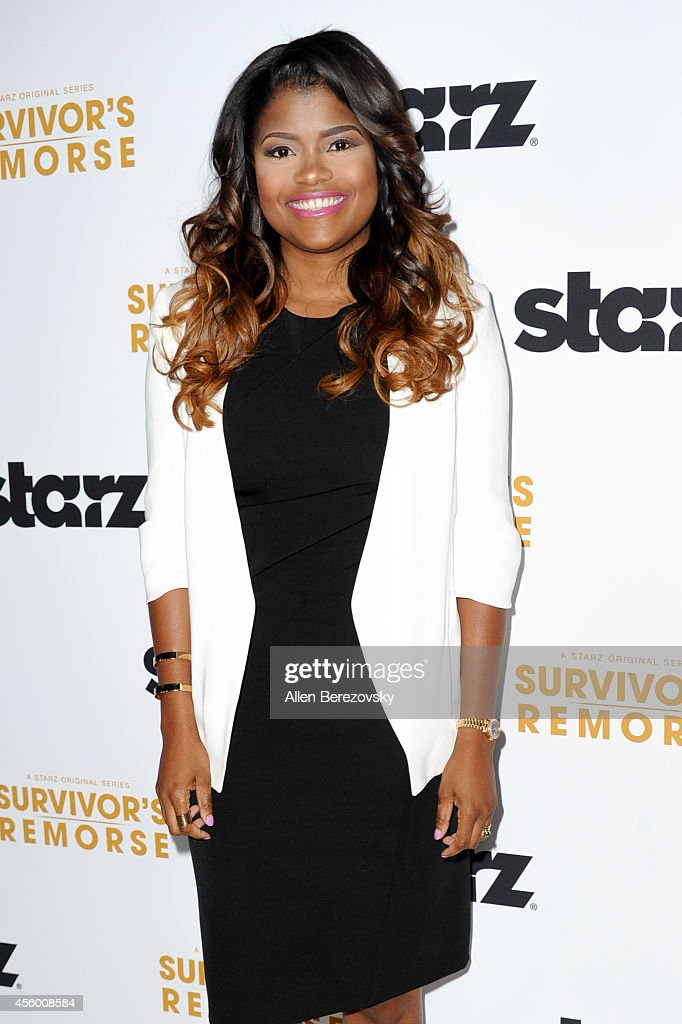 Actress Karen Civil attends the Los Angeles premiere of STARZ new series 'Survivor's Remorse' at Wallis Annenberg Center for the Performing Arts on September 23, 2014 in Beverly Hills, California.