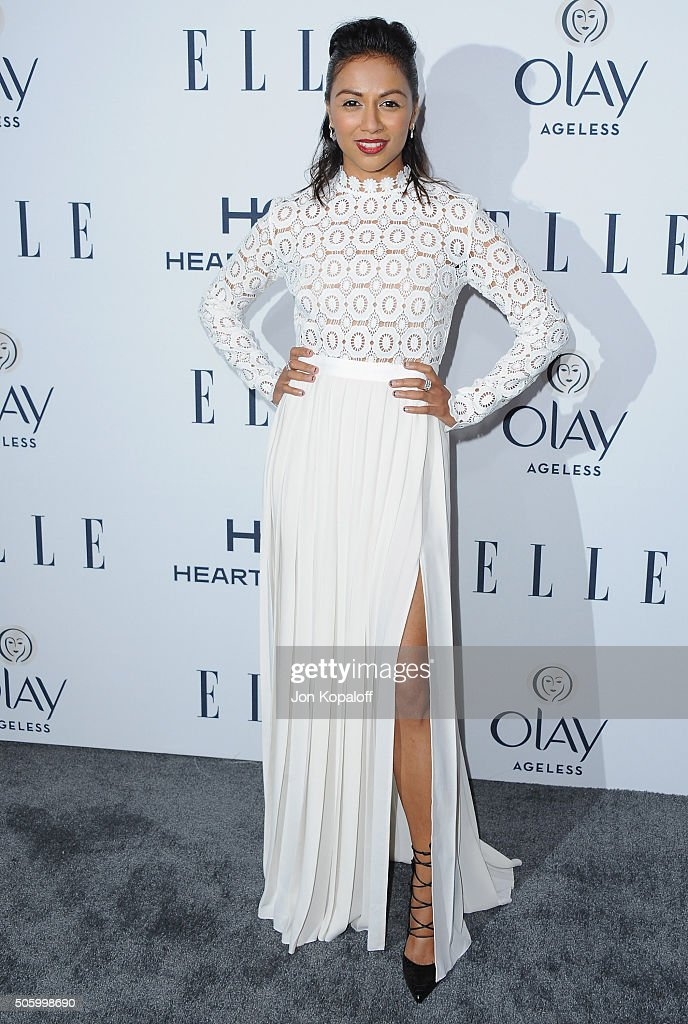 Actress Karen David arrives at ELLE's 6th Annual Women In Television Dinner at Sunset Tower Hotel on January 20, 2016 in West Hollywood, California.