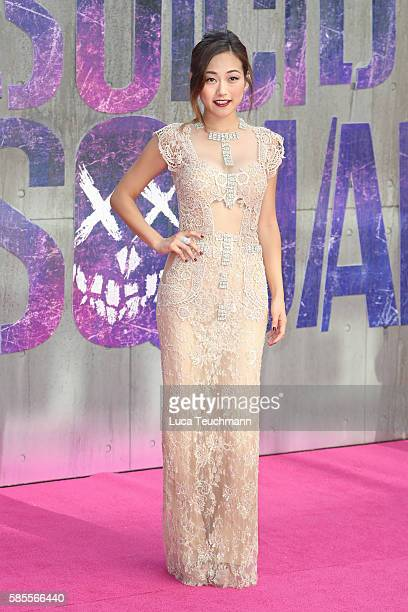 "Actress Karen Fukuhara attends the European Premiere of ""Suicide Squad"" at Odeon Leicester Square on August 3, 2016 in London, England."