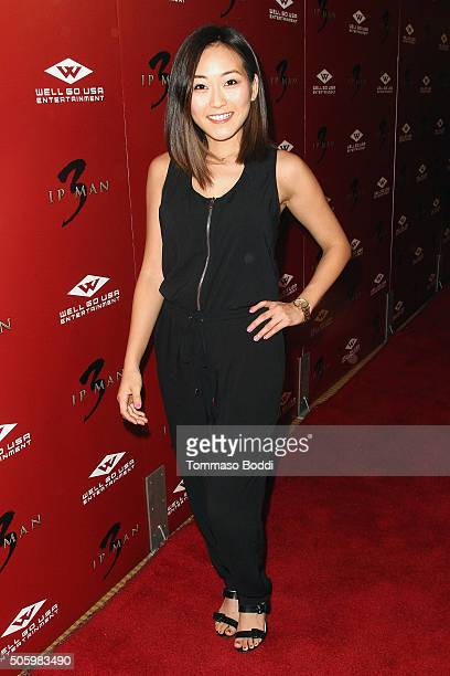 "Actress Karen Fukuhara attends the premiere of Well Go USA Entertainment's ""Ip Man 3"" held at Pacific Theatres at The Grove on January 20, 2016 in..."