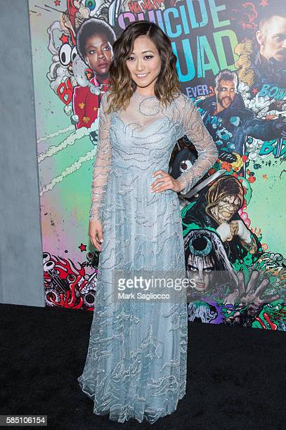 Actress Karen Fukuhara attends the Suicide Squad World Premiere at The Beacon Theatre on August 1 2016 in New York City