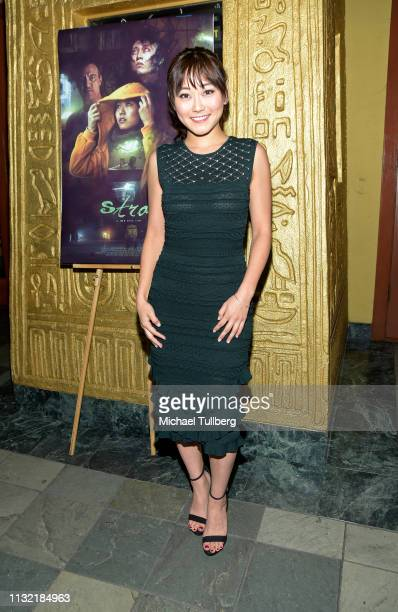 "Actress Karen Fukuhara attends the world premiere of ""Stray"" at the Vista Theatre on February 25, 2019 in Los Angeles, California."