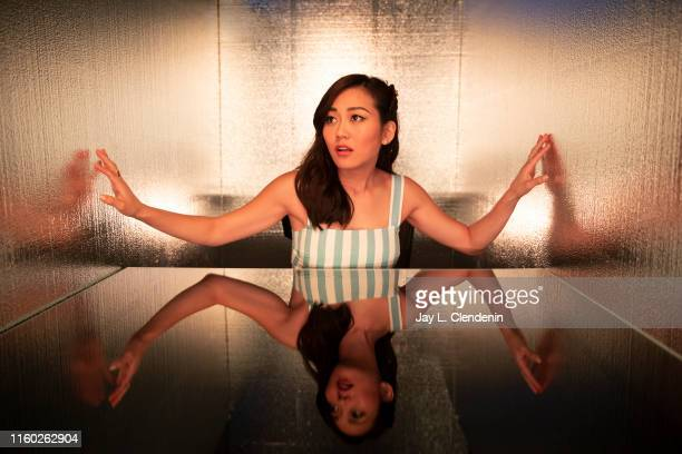 Actress Karen Fukuhara of 'The Boys' are photographed for Los Angeles Times at ComicCon International on July 20 2019 in San Diego California...