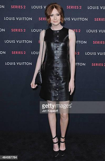 Actress Karen Gillan arrives at Louis Vuitton 'Series 2' The Exhibition on February 5 2015 in Hollywood California