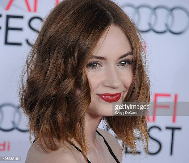 Actress Karen Gillan arrives at the AFI FEST 2015 Presented By Audi Closing Night Gala Premiere of Paramount Pictures' The Big Short at TCL Chinese 6...