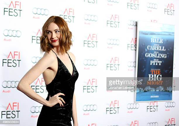 Actress Karen Gillan attends Audi at the closing night gala premiere of The Big Short during AFI FEST 2015 presented by Audi at TCL Chinese Theatre...