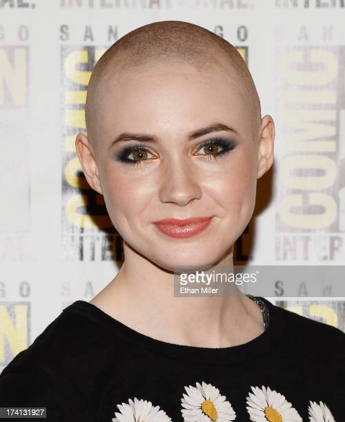 Actress Karen Gillan attends Marvel's Guardians of The Galaxy press line during ComicCon International 2013 at the Hilton San Diego Bayfront Hotel on...