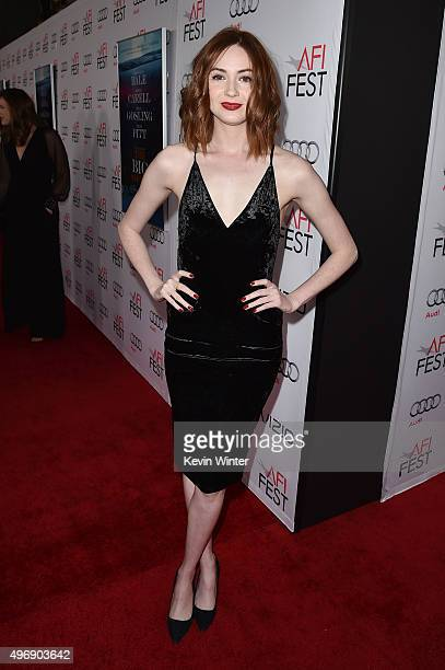 """Actress Karen Gillan attends the closing night gala premiere of Paramount Pictures' """"The Big Short"""" during AFI FEST 2015 at TCL Chinese Theatre on..."""