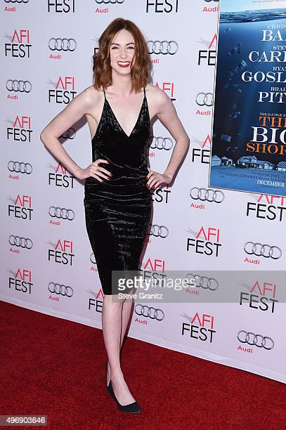 Actress Karen Gillan attends the closing night gala premiere of Paramount Pictures' The Big Short during AFI FEST 2015 at TCL Chinese Theatre on...