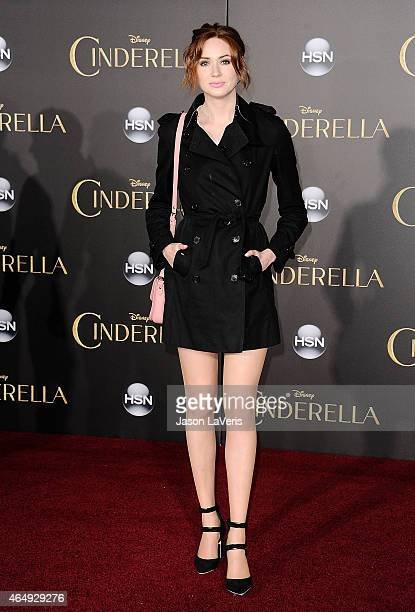 Actress Karen Gillan attends the premiere of Cinderella at the El Capitan Theatre on March 1 2015 in Hollywood California