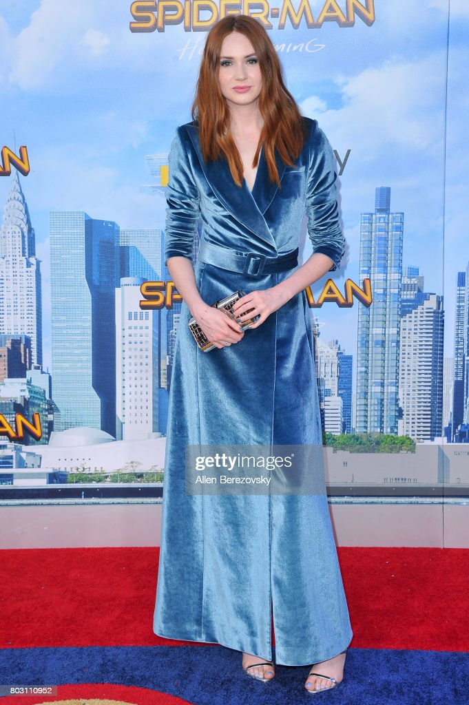 Actress Karen Gillan attends the premiere of Columbia Pictures' 'Spider-Man: Homecoming' at TCL Chinese Theatre on June 28, 2017 in Hollywood, California.