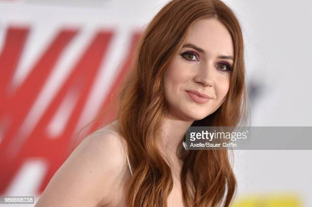 Actress Karen Gillan attends the premiere of Disney and Marvel's 'AntMan and the Wasp' at El Capitan Theatre on June 25 2018 in Hollywood California