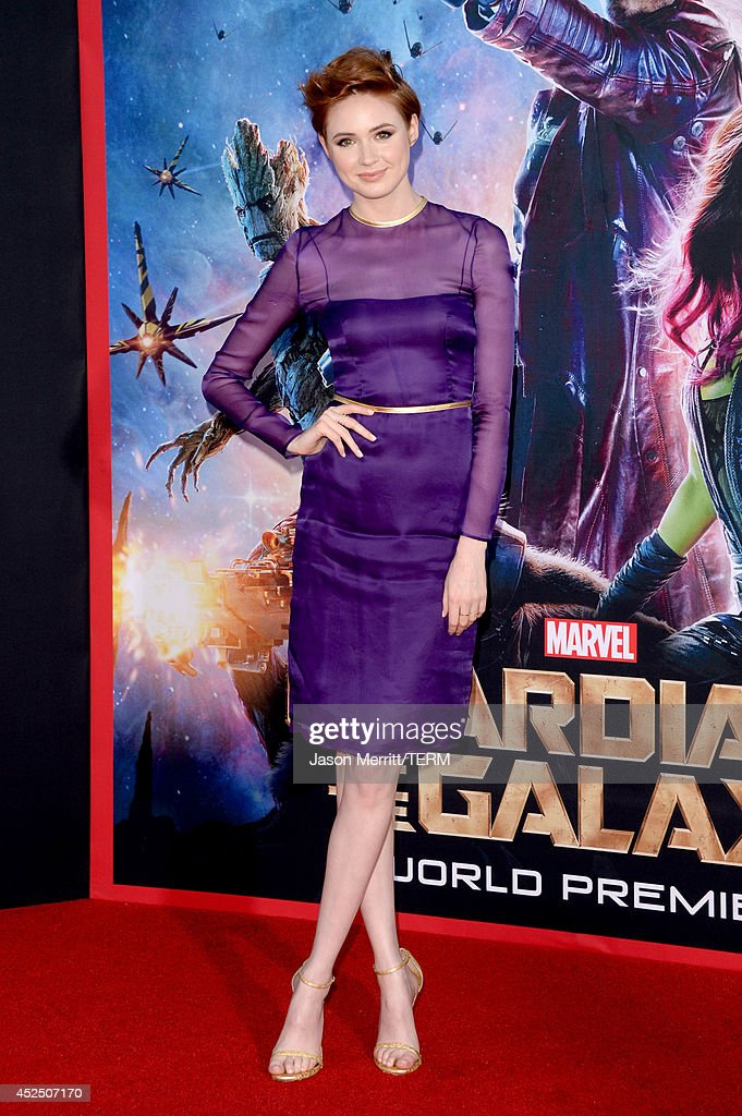Actress Karen Gillan attends the premiere of Marvel's 'Guardians Of The Galaxy' at the Dolby Theatre on July 21, 2014 in Hollywood, California.