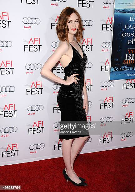 Actress Karen Gillan attends the premire of The Big Short at the 2015 AFI Fest at TCL Chinese 6 Theatres on November 12 2015 in Hollywood California