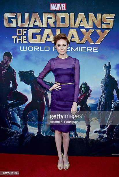 "Actress Karen Gillan attends The World Premiere of Marvel's epic space adventure ""Guardians of the Galaxy"" directed by James Gunn and presented in..."