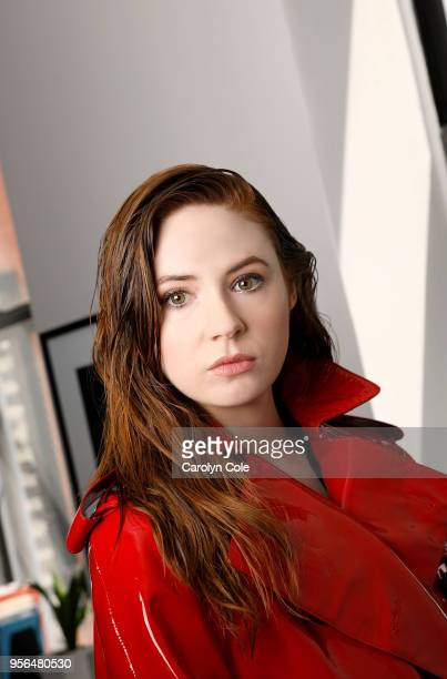 Actress Karen Gillan is photographed for Los Angeles Times on April 9 2018 in New York City PUBLISHED IMAGE CREDIT MUST READ Carolyn Cole/Los Angeles...