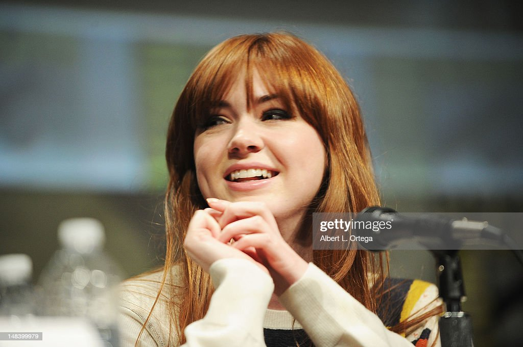 Actress Karen Gillan speaks at BBC America's 'Doctor Who' Panel during Comic-Con International 2012 at San Diego Convention Center on July 15, 2012 in San Diego, California.