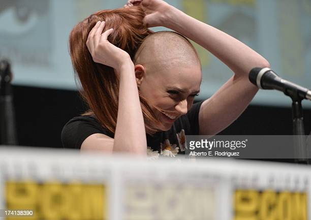 Actress Karen Gillan speaks at Marvel's Guardians Of The Galaxy panel during ComicCon International 2013 at San Diego Convention Center on July 20...