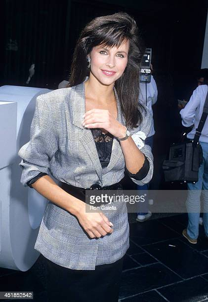 Actress Karen Kopins attends the Press Conference to Announce the Production of FOX Broadcasting Company's New Series Angels '88 on May 5 1988 at FOX...