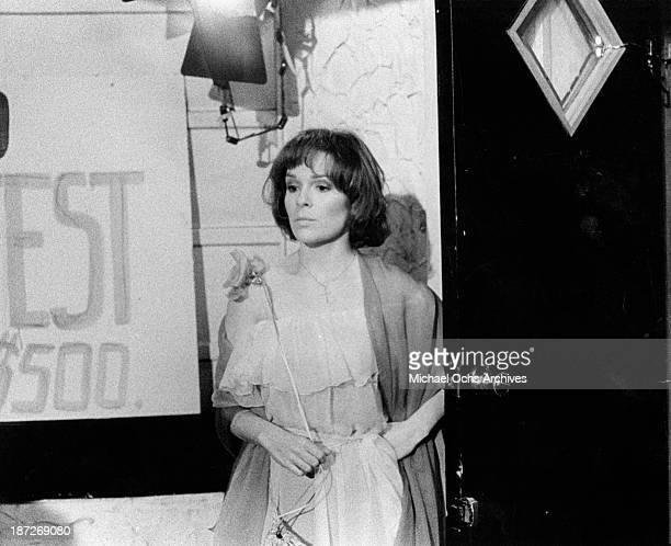 Actress Karen Lynn Gorney on set of the movie Saturday Night Fever in 1977