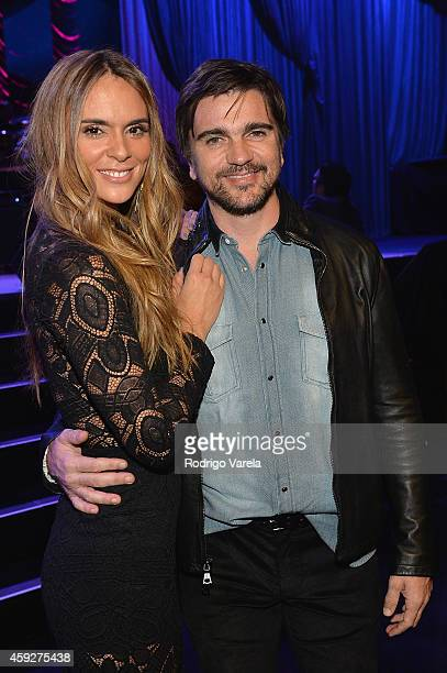 Actress Karen Martinez and recording artist Juanes attend the 2014 Person of the Year honoring Joan Manuel Serrat at the Mandalay Bay Events Center...