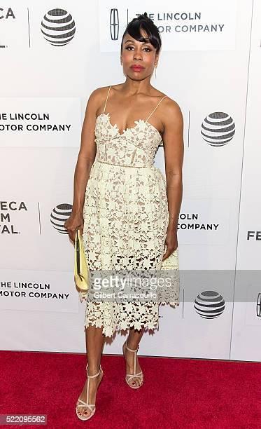Actress Karen Pittman attends 'Custody' Premiere during 2016 Tribeca Film Festival at John Zuccotti Theater at BMCC Tribeca Performing Arts Center on...