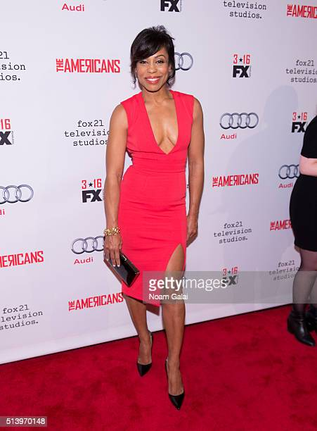 Actress Karen Pittman attends 'The Americans' season 4 premiere on March 5, 2016 in New York City.