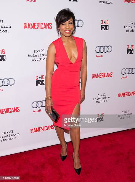Actress Karen Pittman attends 'The Americans' season 4 premiere on March 5 2016 in New York City