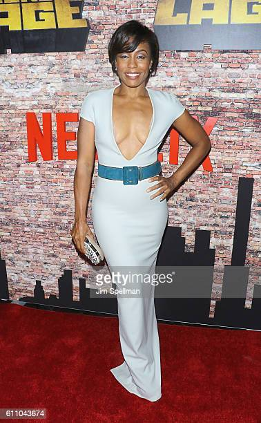 Actress Karen Pittman attends the Luke Cage New York premiere at AMC Magic Johnson Harlem on September 28 2016 in New York City