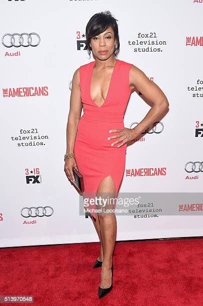 Actress Karen Pittman attends the The Americans season 4 premiere on March 5 2016 in New York City