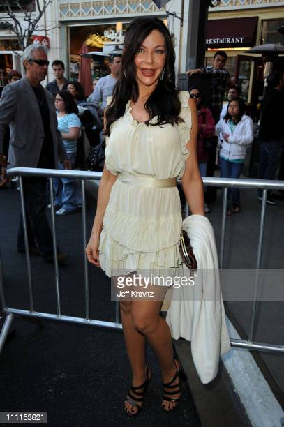 Actress Karen Trella arrives to the Los Angeles premiere of The Perfect Game in the Pacific Theaters at the Grove on April 5 2010 in Los Angeles...
