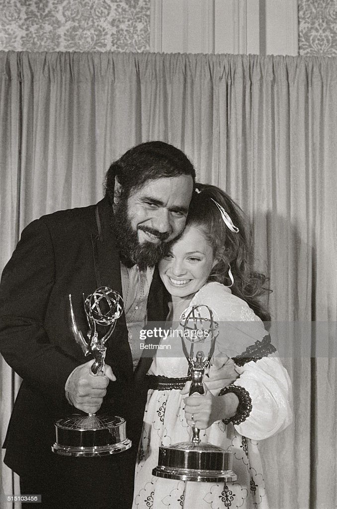 Actress Karen Valentine Holding Her Emmy For Best Supporting Performance By  An Actress In A Comedy