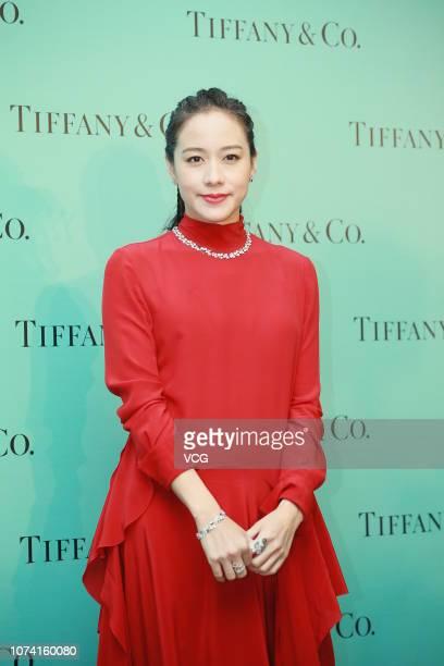 Actress Karena Lam attends a Tiffany Co event on November 28 2018 in Hong Kong China