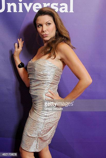 Actress Kari Wuhrer arrives at the 2014 Television Critics Association Summer Press Tour - NBCUniversal - Day 2 at The Beverly Hilton Hotel on July...