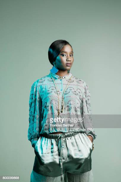 Actress Karidja Touré is photographed for Plugged Magazine on May 5 2017 in Paris France PUBLISHED IMAGE