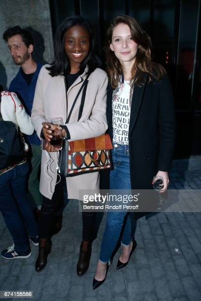 Actress Karidja Toure and Josephine Japy attend the 'pascALEjandro L'Androgyne Alchimique' Exhibition Opening at Azzedine Alaia Gallery on April 27...
