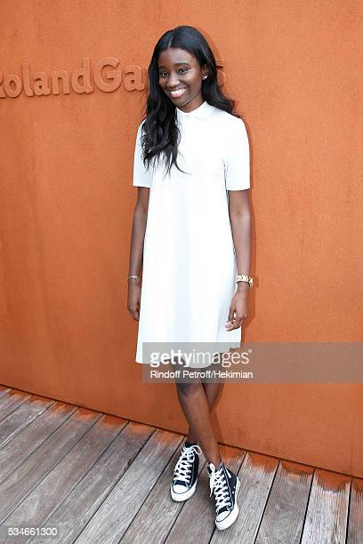 Actress Karidja Toure attends the 2016 French Tennis Open Day Six at Roland Garros on May 27 2016 in Paris France