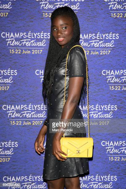 Actress Karidja Toure attends the 6th 'ChampsElysees Film Festival' at Cinema Gaumont Marignan on June 15 2017 in Paris France
