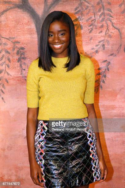 Actress Karidja Toure attends the Chanel Cruise 2017/2018 Collection Show Photocall Held at Grand Palais on May 3 2017 in Paris France