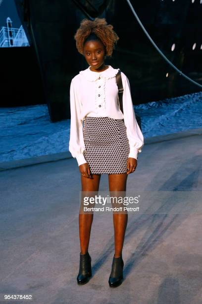 Actress Karidja Toure attends the Chanel Cruise 2018/2019 Collection Photocall at Le Grand Palais on May 3 2018 in Paris France