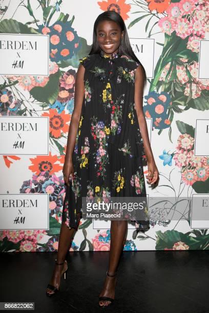 Actress Karidja Toure attends the 'ERDEM X HM' Paris Collection Launch at Hotel du Duc on October 26 2017 in Paris France